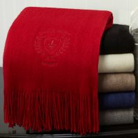 Boucle Fringed Scarf Stack