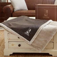 Faux Leather Throw blankets by Kanata Blanket