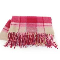 Riviera Throw in Sunset Pink Plaid by Kanata Blanket