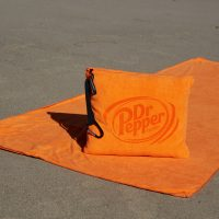 Beach Quillow beach towel in orange