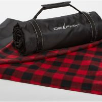 Buffalo Check black and red Explorer picnic blanket