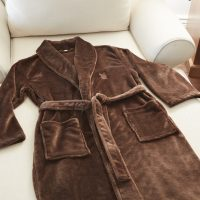 Plush Lounge Robe in Chocolate by Kanata Blanket