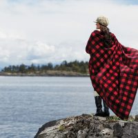 Cabin Throw blankets by Kanata Blanket