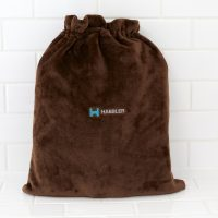 Plush Tote Bag in Chocolate by Kanata Blanket