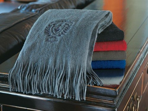 Boucle Scarf stack