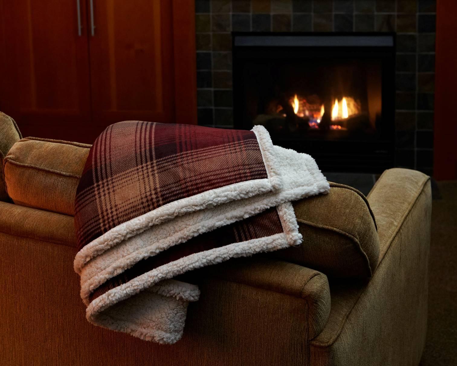 Cottage Plaid Throw Kanata Blanket Company Cozy Evenings