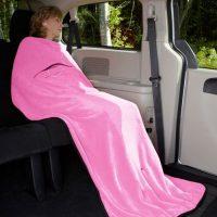 Velura™ Travel Quillow in Pink by Kanata Blanket