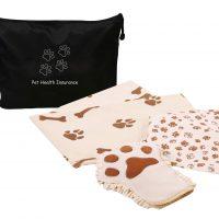 Trousse de lavage en microfibre pour chiens