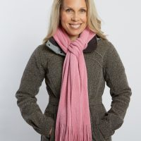 Bouclé Scarf in Pink by Kanata Blanket