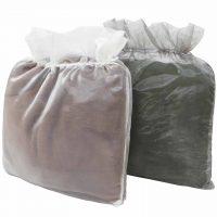 Organza Bag – Ivory and Silver