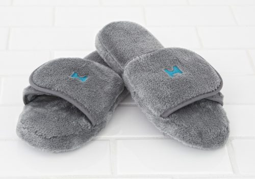 Plush Lounge slippers – silver gray1