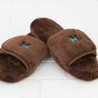 Plush Lounge Slippers in Chocolate by Kanata Blanket