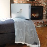 Thank You Challenger Lambswool throw blankets by Kanata Blanket