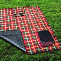 Canadian Tartan Picnic Blanket Canada 150 by Kanata Blanket Company