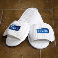 Waffle Weave Spa Slippers from Kanata Blanket