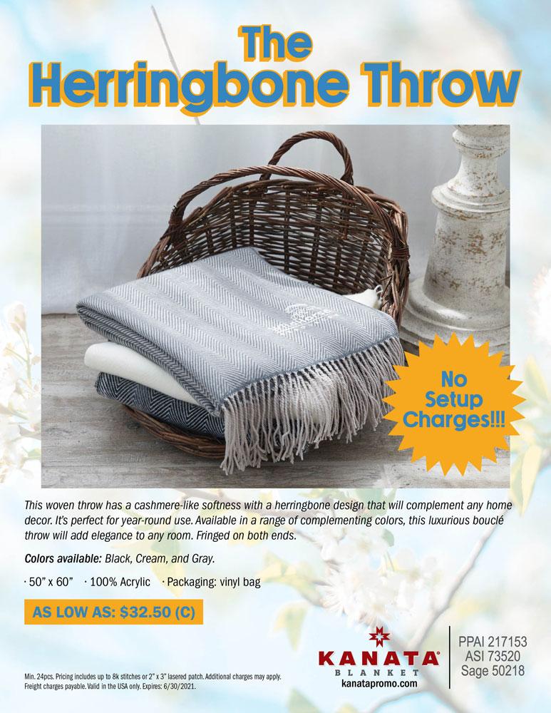 The Herringbone Throw
