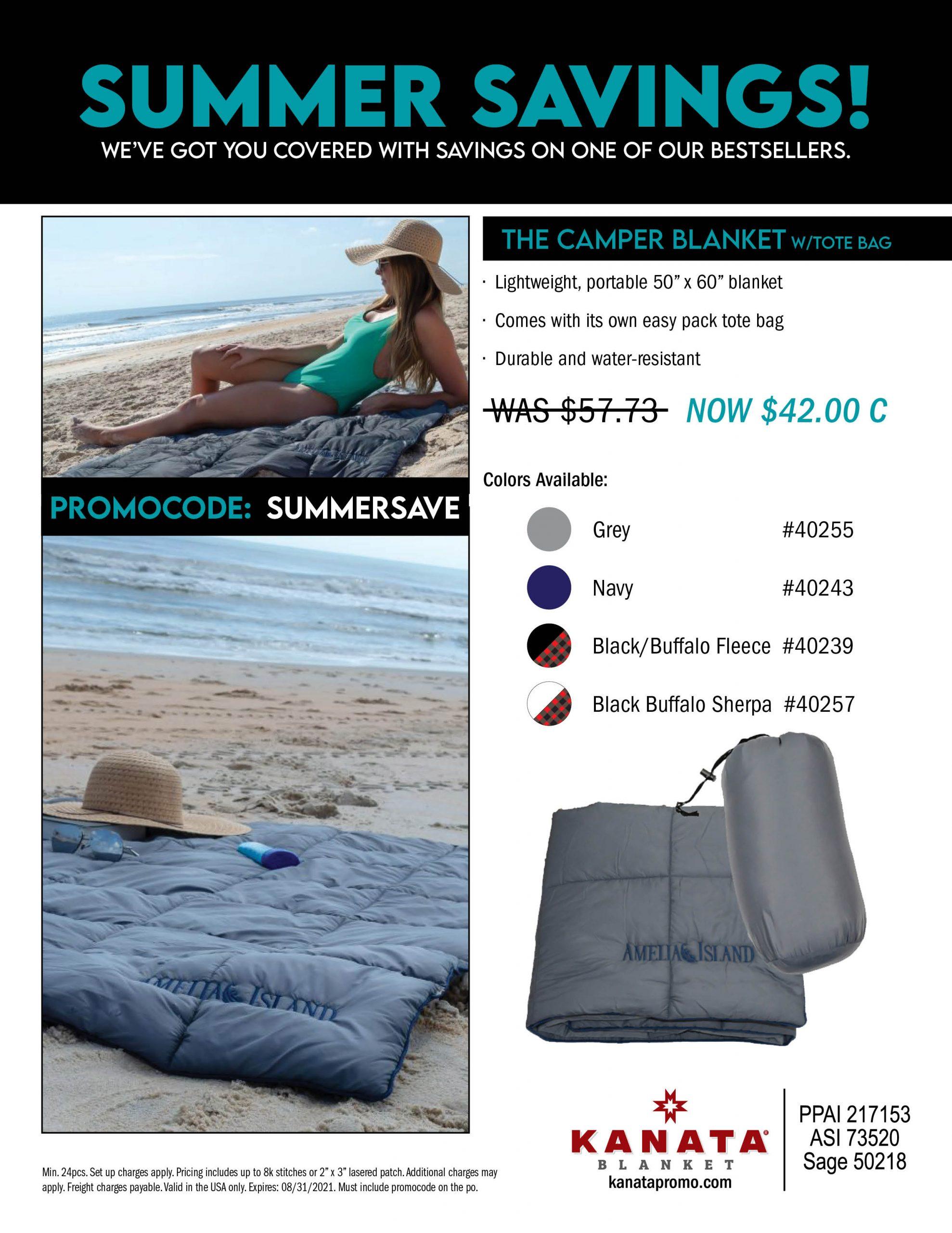 Summer Savings Camper Blanket